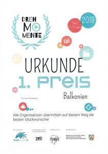 """Freigesprochen Mediencoaching - 1. Preis bei Drehmomente NRW für """"Balkonien"""""""